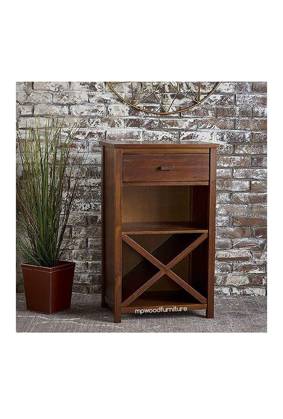 MP WOOD FURNITURE Sheesham Wood Bar Cabinet