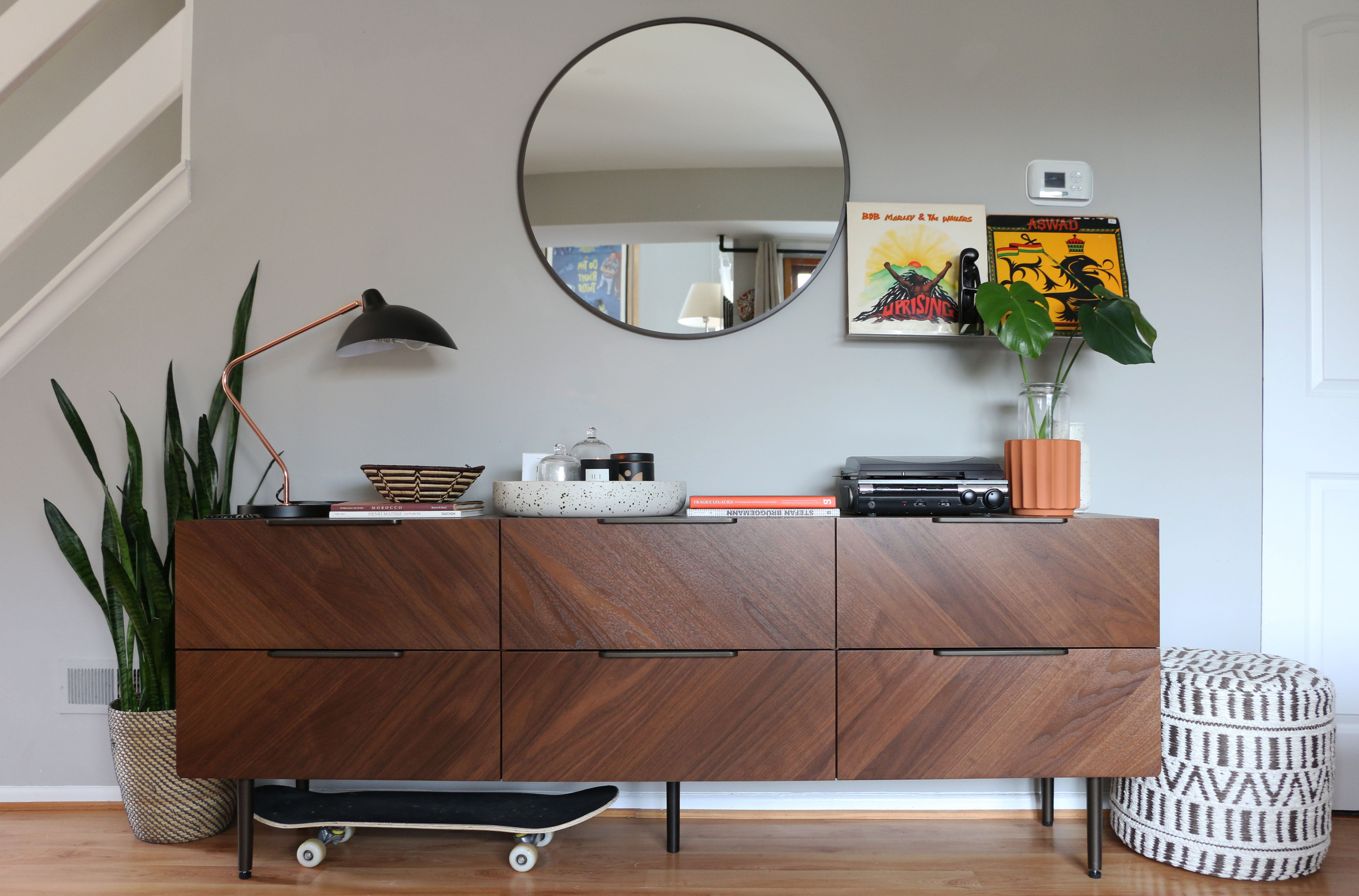 Interior design services modern sideboard and accents