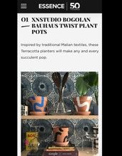 Load image into Gallery viewer, BEST SELLER! Bogolan Bauhaus TWIST planters