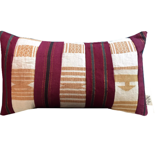 Upcycled Vintage Asooke Pillow