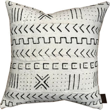 Load image into Gallery viewer, BAMAKO White Mudcloth Pillow Covers