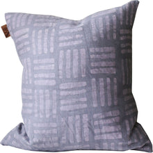 Load image into Gallery viewer, Batik Mauve HASH Mark Pillow
