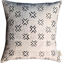 Load image into Gallery viewer, White + Black Domino Mudcloth Pillow Covers