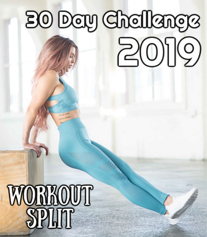 The Workout Split 2019!! Challenge yourself for 30 Days!