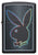Front of Playboy Black Matte windproof lighter
