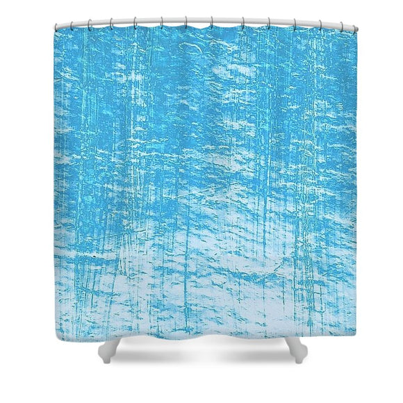 Ice Blues Shower Curtain by Laura Lisa Designs