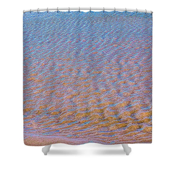 Ripple Effect Shower Curtain by Laura Lisa Designs