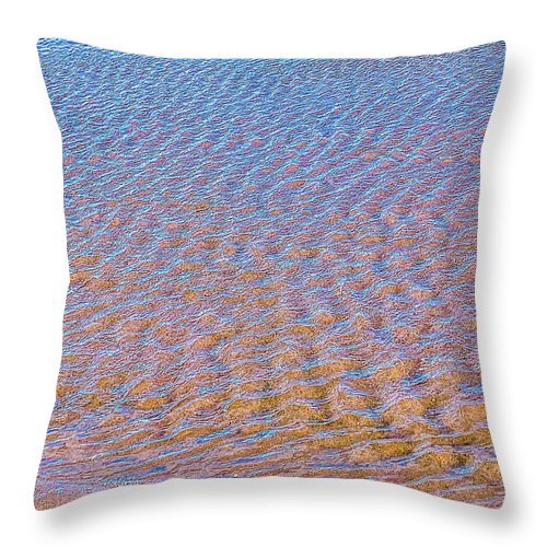 Ripple Effect Throw Pillow by Laura Lisa Designs