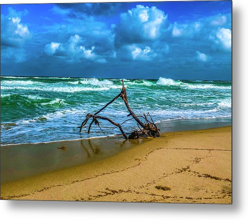Ship Wreck Metal Print by Laura Lisa Designs