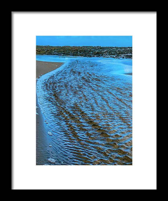 Tidal Flow Framed Print by Laura Lisa Designs
