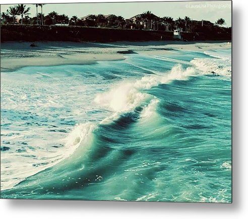 Tides of Life Metal Print by Laura Lisa Designs