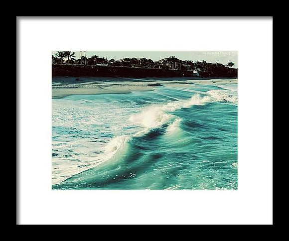 Tides of Life Framed Print by Laura Lisa Designs