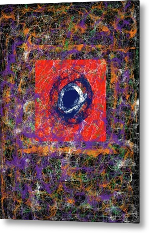 Twisted Reality Metal Print by Laura Lisa Designs