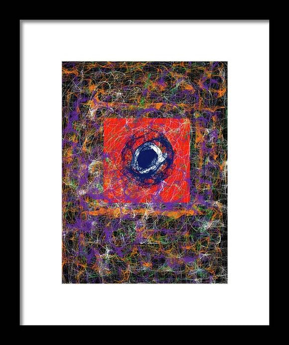 Twisted Reality Framed Print by Laura Lisa Designs