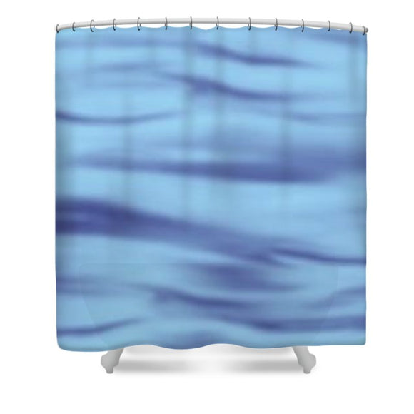 Waves Shower Curtain by Laura Lisa Designs