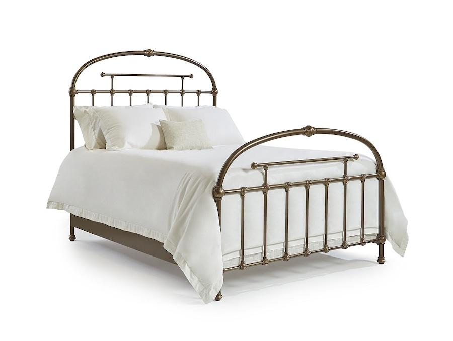 Franco Bed in Golden Brown metal finish