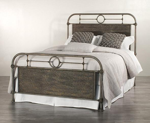 Danville Bed in Weathered Grey metal finish