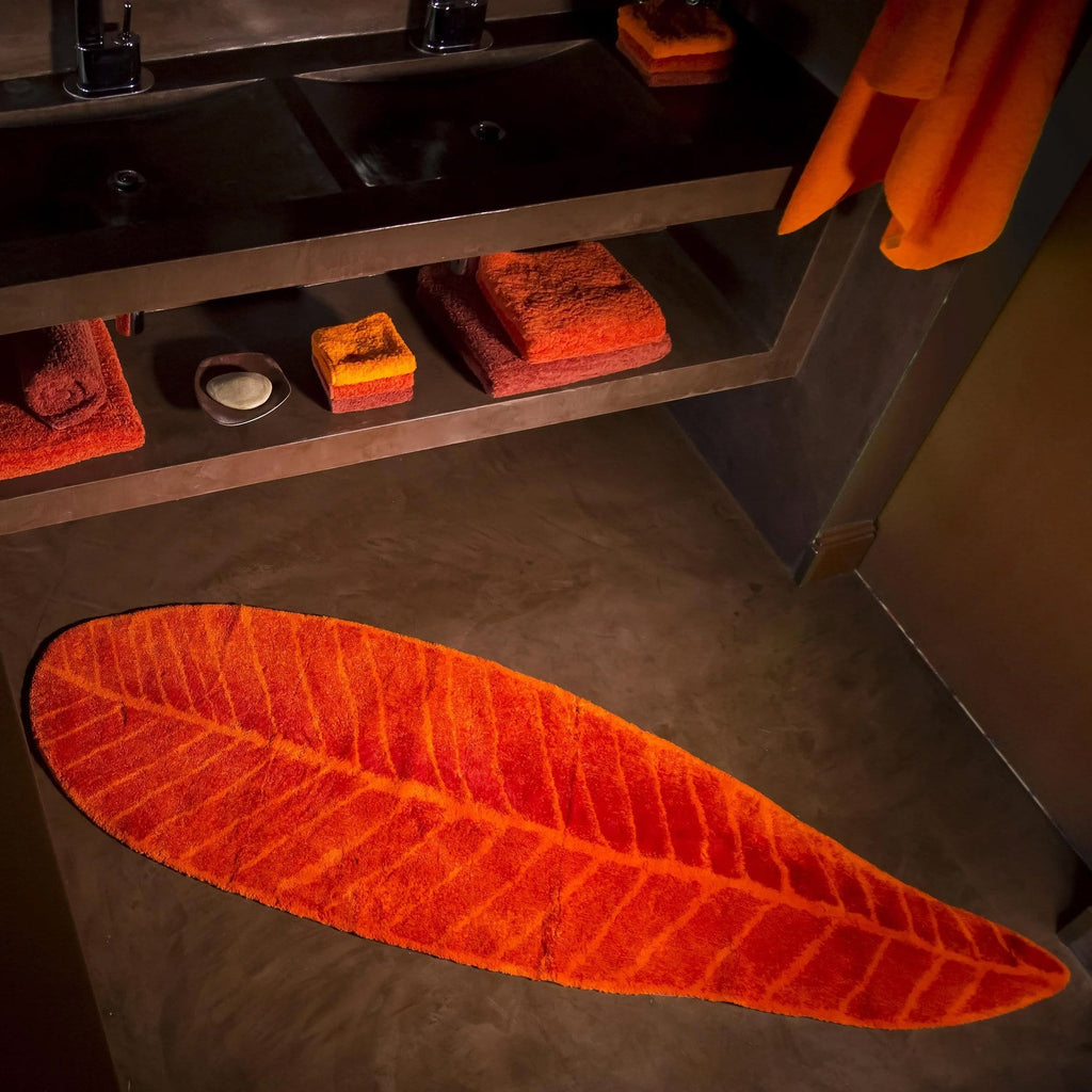 Feuille Rug in Orange