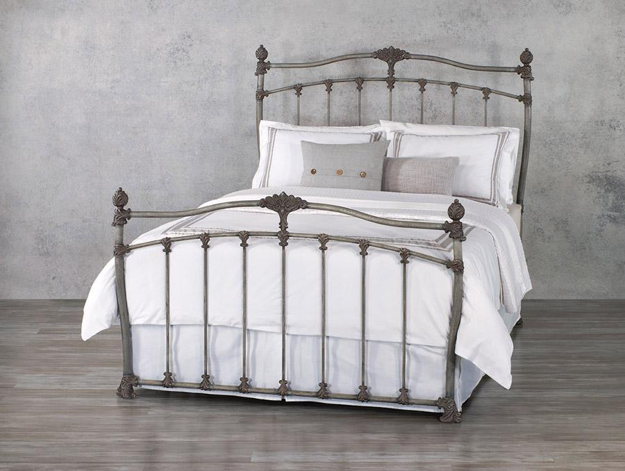 Merrick Bed in Weathered Grey metal finish
