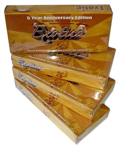 Exotica Natural Hookah Coals (12 pieces) box
