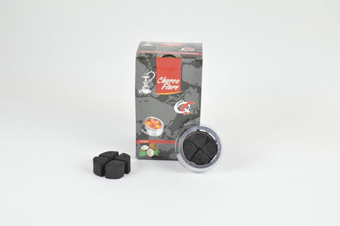 Charco Flare Coconut Coal 112pcs Lotus Cut.