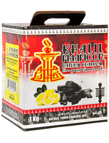 Khalil Mamoon Lemon Wood Hookah Charcoal