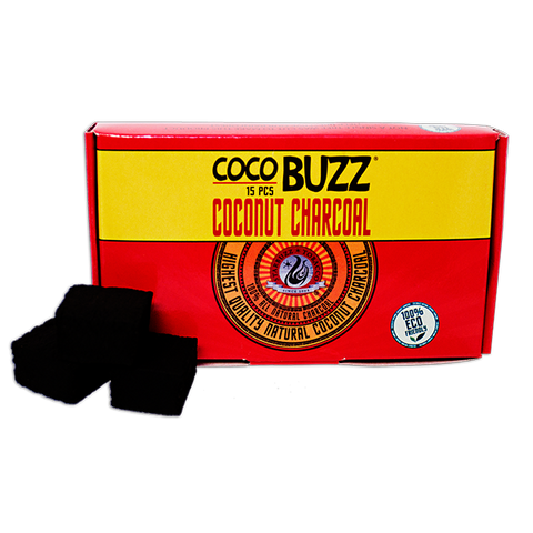 Coco Buzz Natural Hookah Coals (15 Pieces)