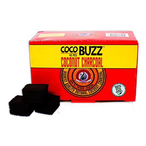 Coco Buzz Natural Hookah Coals (45 Pieces)