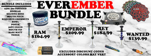 Everember Rey Starter Kit (Regular Line) - Hookah Junkie