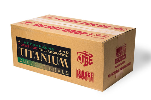 "Titanium Coconut Coal ""The CUBE"" 10Kg Lounge Box - Hookah Junkie"