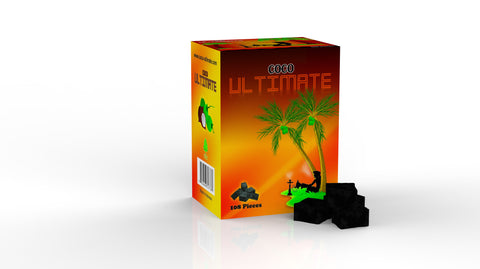 1 Kilo Box 108ct of Coco Ultimate Premium Hookah Coals - Hookah Junkie