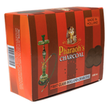 Pharaohs Quick Light Charcoal - 33mm - Made in Holland - 100 Piece Box - Hookah Junkie