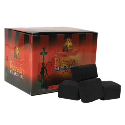 Pharaoh's Cube Charcoal-48 Pieces - Hookah Junkie