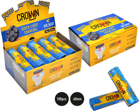Crown Quick-Light Charcoal - Hookah Junkie