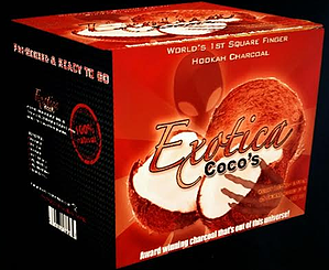 EXOTICA COCO ALL NATURAL COCONUT HOOKAH CHARCOAL