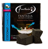 Fantasia Air-Flow Natural Coconut Hookah Charcoal (9 Pieces)