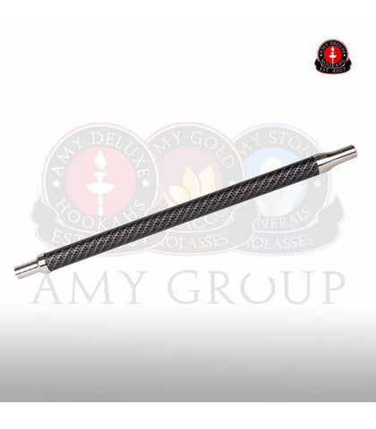 AMY DELUXE STAINLESS STEEL HOSE WITH CARBON Handle DESIGN - Hookah Junkie