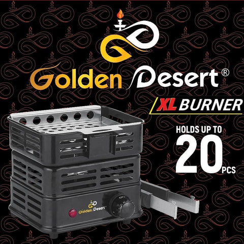 Golden Desert XL Charcoal Burner - Hookah Junkie