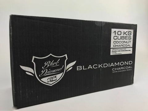 Black Diamond Coconut Charcoal 10 Kilo Case Cubes - Hookah Junkie