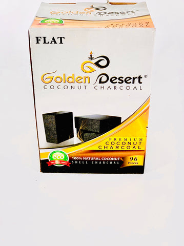 GOLDEN DESERT COCONUT CHARCOAL 96 PC (FLATS - Hookah Junkie