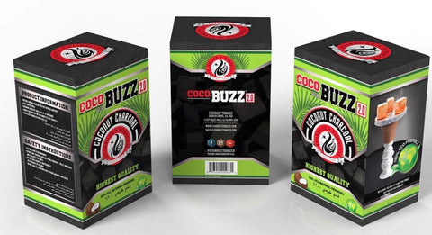 Coco Buzz 2.0 Hookah Coals (72 Pieces)