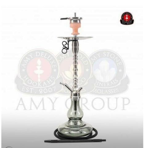 AMY DELUXE HOOKAH STEEL 100% AUTHENTIC STAINLESS STEEL SHISHA 501 - Hookah Junkie