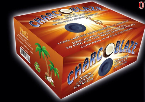 Charco Blaze Quick Lighting Coconut Coal - Hookah Junkie