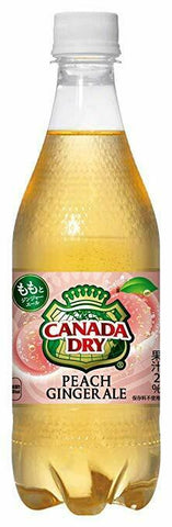 Limited Edition CANADA DRY Peach Ginger Ale soda fresh from Japan - Hookah Junkie