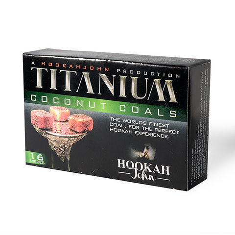 Titanium Coconut Coal 16ct Box - Hookah Junkie