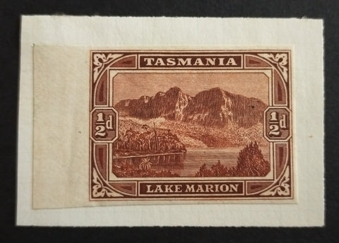 1899-1900 Pictorials 1/2d 'Lake Marion' De La Rue Imperforate Colour Trial In Bright Red-Brown On Unwatermarked Wove Paper