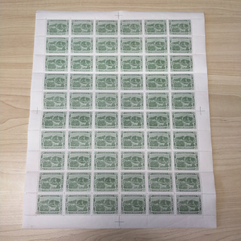 1905-11 Pictorials Watermark Crown over Double-Lined A (Sideways) 1/2d Dull Green Perf 12 1/2 Sheet of 60 Mint Unhinged SG 249