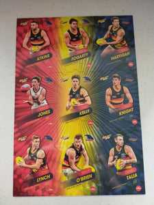 2020 Select Footy Stars Jigsaw Puzzle Adelaide Team Set Of 9 Cards