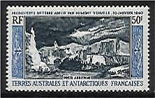 French Antarctic Territory TAAF SG 38 50Fr Discovery of Adelie Land 1840 MUH