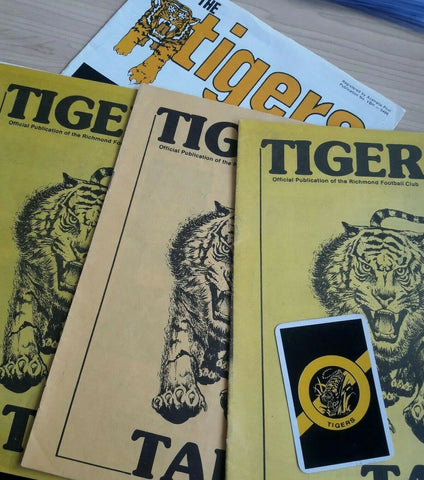 Richmond Tigers VFL Collection Including Lovely Playing Card And Publications